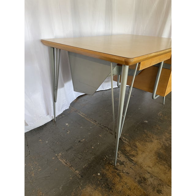 1950s Brunswick & Co Mid Century Writing Desk For Sale - Image 9 of 13