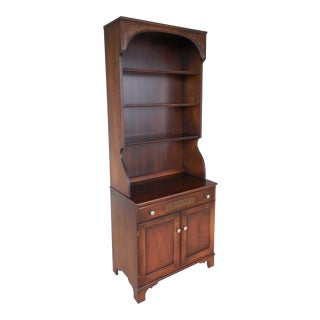L. Hitchcock Harvest Stenciled 2PC Bookcase Cabinet For Sale