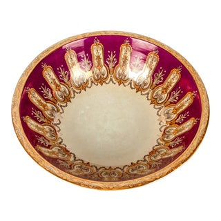 Large Antique English Ceramic Centerpiece Bowl For Sale