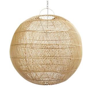 Rattan Moon Globe Lantern