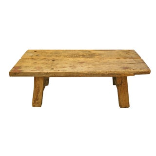 Rustic Reclaimed Wood Cocktail Table For Sale