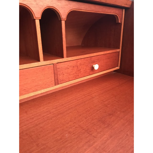 20th Century Danish Modern Rosewood Cylinder Desk For Sale - Image 10 of 13