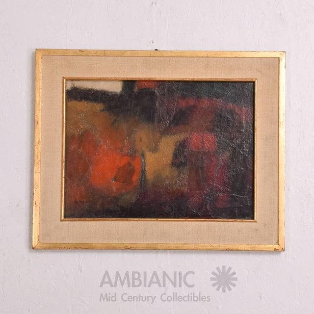 Abstract Mid-Century Modern Abstract Painting For Sale - Image 3 of 9