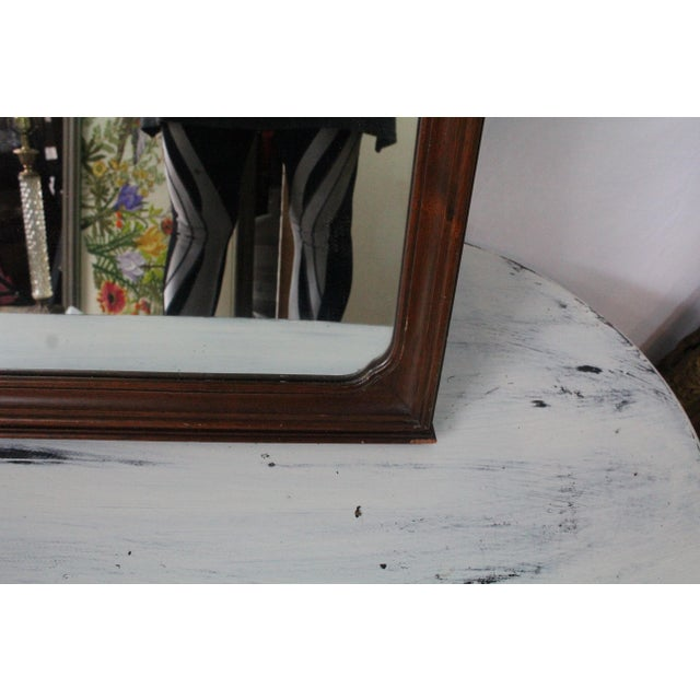 1920s 1920's Antique Scroll Top Shell & Acorn Finial Mirror For Sale - Image 5 of 10