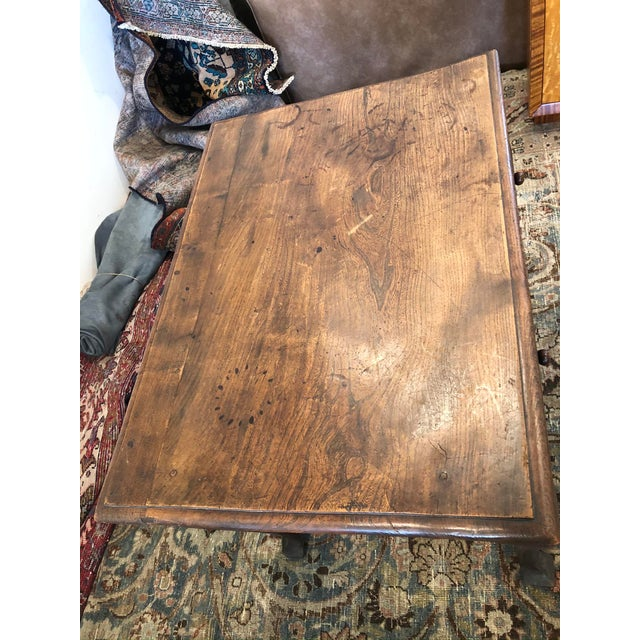 Late 19th Century Antique English Farmhouse Mahogany Writing Table For Sale - Image 5 of 13