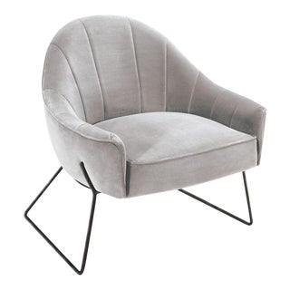 Circu Gray Fabric Chair For Sale