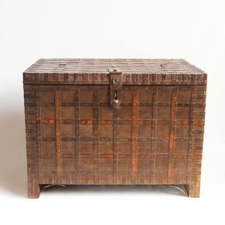 Antique Wood & Iron Indian Trunk Preview
