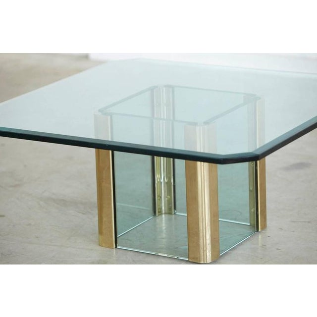 Brass Coffee Table with an Octagonal Beveled Glass Top by Leon Rosen for Pace - Image 6 of 9