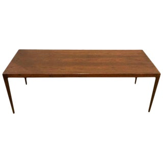 Mid-Century Modern Rosewood Coffee or Low Table With Pull Out Sides For Sale