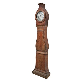 19th Century Painted Swedish Tall Case Clock