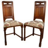 Image of Late 19th Century Gothic Revival Chairs- A Pair For Sale