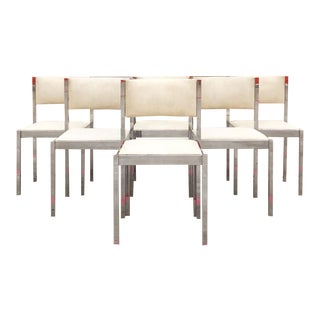 1970's Modern Contemporary Daystrom Chrome Chairs - Set of 6 For Sale