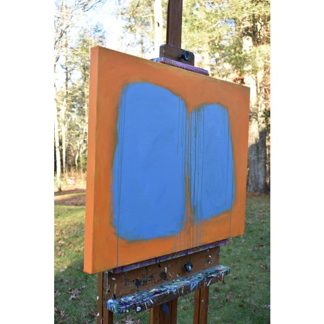 """Blue Stephen Remick """"Comfort"""" Abstract Painting For Sale - Image 8 of 13"""