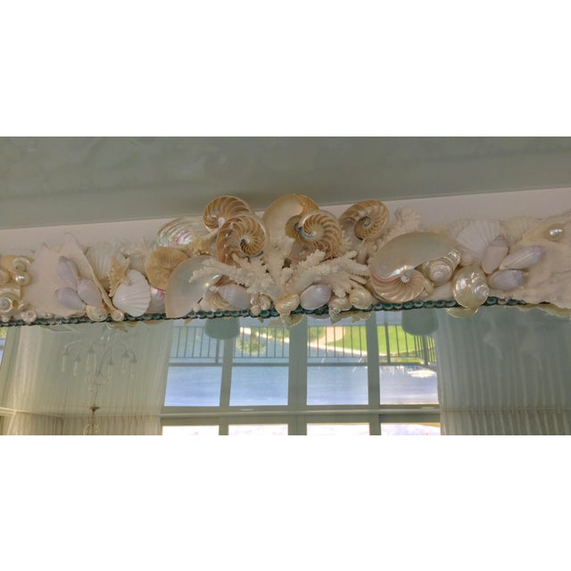 Large Horizontal Seashell & Coral Mirror For Sale In West Palm - Image 6 of 10