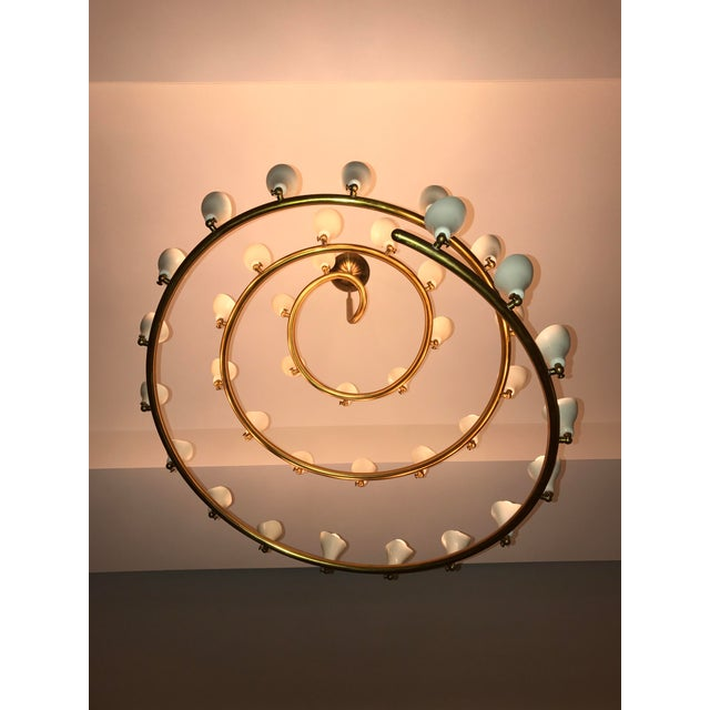 Gino Sarfatti for Arteluce Large Spiral Chandelier - Image 3 of 6
