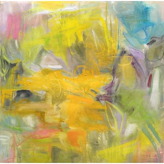 """Birds of Paradise"" Abstract Painting by Trixie Pitts"