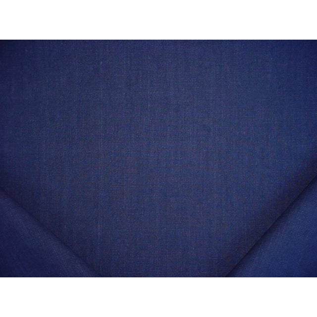 2010s Ralph Lauren Papyrus Terry Indigo Blue Cotton Drapery Upholstery Fabric- 9-3/4 Yards For Sale - Image 5 of 5