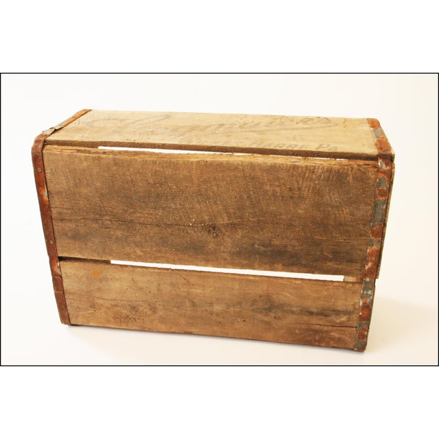 Brown Vintage Rustic Stegmaier's Brewery Wood Crate For Sale - Image 8 of 11