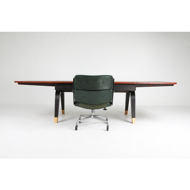 Metal Art Deco Extendable Dining Table For Sale - Image 7 of 11