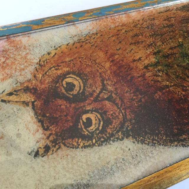 Mid-Century Distressed Owl Box - Image 8 of 9