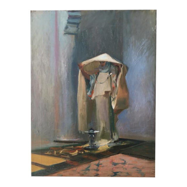 Vintage Oil Painting of a Woman - Image 1 of 3