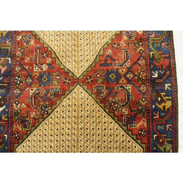 Beige 1920s Vintage Persian Malayer Design Rug - 3′5″ × 12′ For Sale - Image 8 of 10