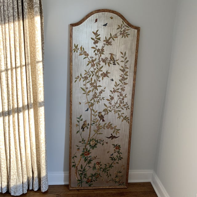 Hand Painted Chinoiserie Wall Panels- a Pair For Sale - Image 9 of 13