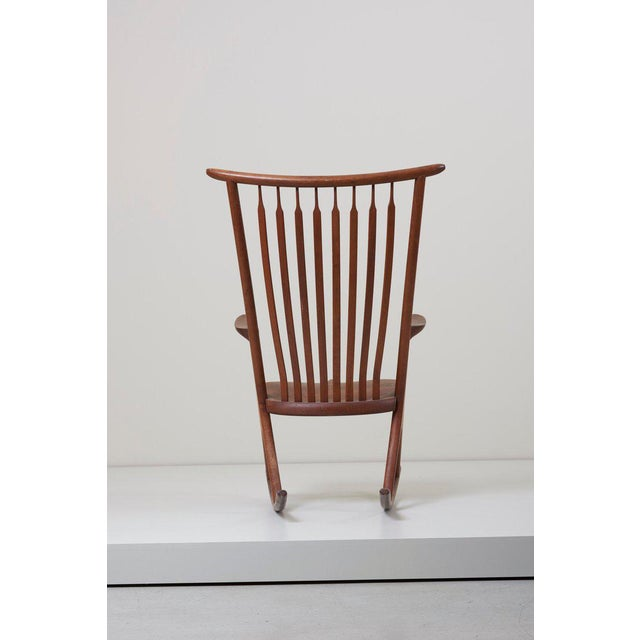 Arts & Crafts Studio Rocking Chair by Richard Harrison, Us, 1960s For Sale - Image 3 of 6