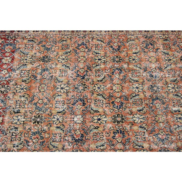 """Vintage Persian Distressed Rug, 4'3"""" X 19'7"""" For Sale - Image 9 of 12"""