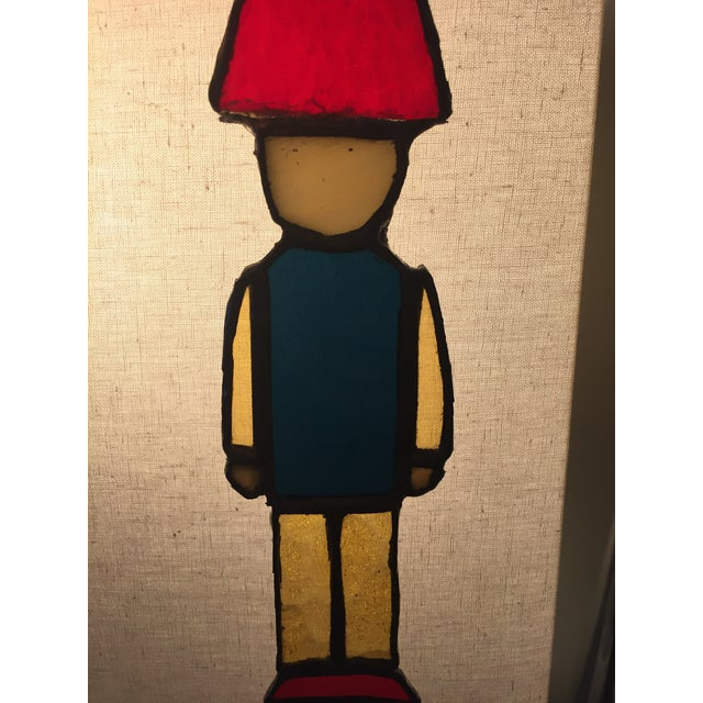 Americana Stained Glass Nutcracker Toy Soldier For Sale - Image 3 of 6
