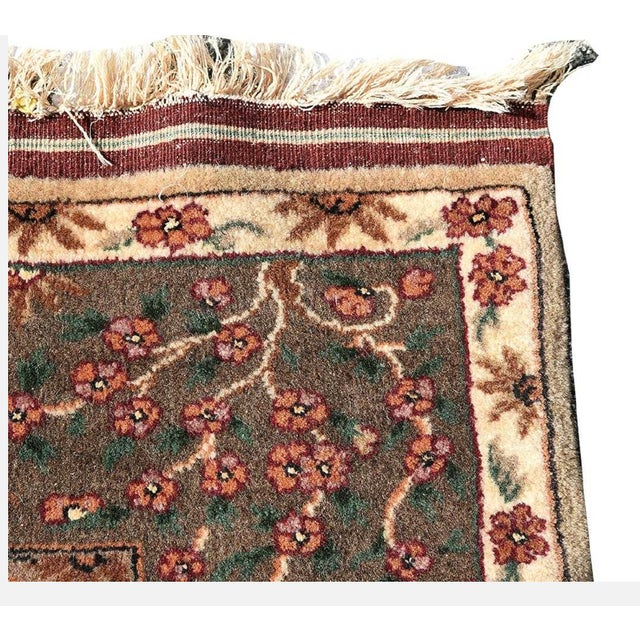 "Beautiful Qum hunting rug. In excellent condition, no stains or damage. Cleaned. this rug measures 7 feet 5"" x 5 feet 7""...."
