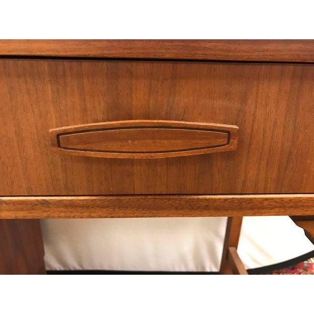 Mid-Century Modern Mid-Century Modern Danish Walnut Writing Desk For Sale - Image 3 of 4
