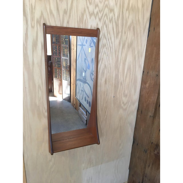 1960s Vintage Walnut Entry Mirror For Sale - Image 10 of 11