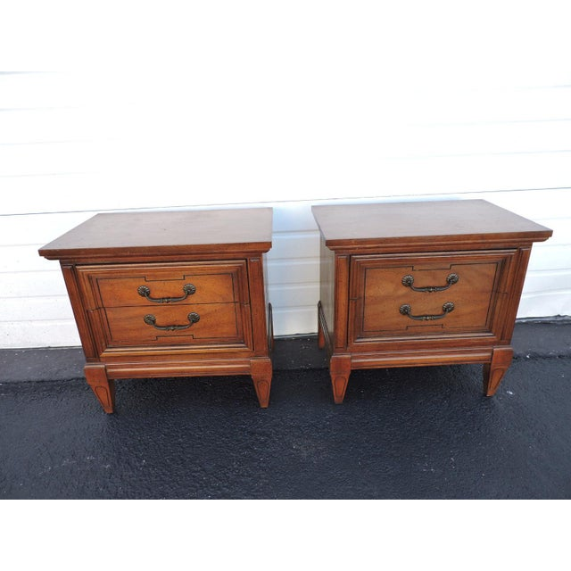 Mid-Century Modern Pair of Nightstands Side End Tables by Dixie For Sale - Image 3 of 11