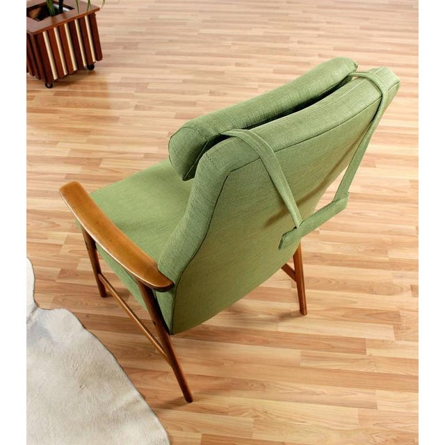Green Mid Century Modern Arm Chair - Image 4 of 8