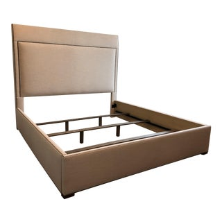 Contemporary Vanguard Furniture King Sized Upholstered Bed For Sale