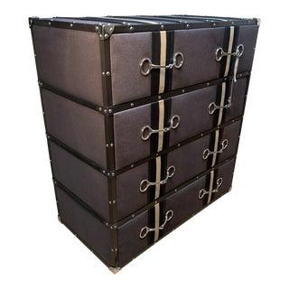 Restoration Hardware Eichholtz Equestrian Handle Chest Dresser For Sale