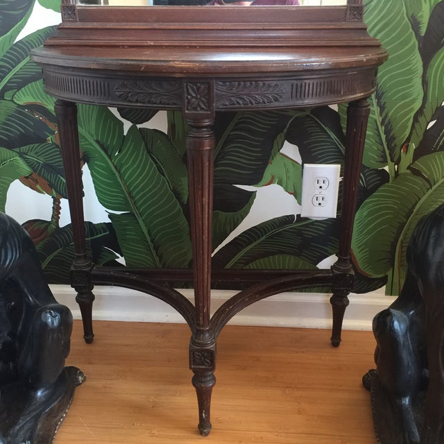 Imperial Mahogany Console Table with Mirror - Image 5 of 9