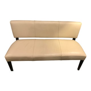 Room and Board Georgia Modern Leather Bench For Sale