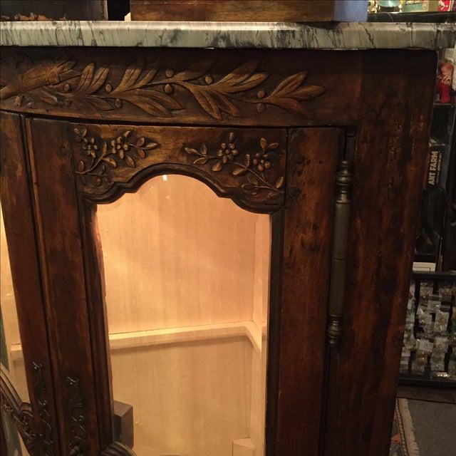 Antique 1750s Corner Cabinet with Original Marble - Image 5 of 8