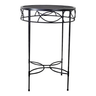 Italian Janus Et Cie Amalfi Collection Powder Coated Epoxy Coated Side Table For Sale