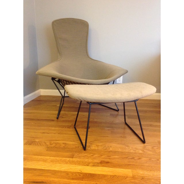 Harry Bertoia for Knoll Bird Chair & Ottoman - Image 2 of 10