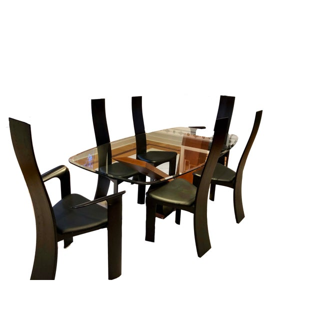 1990s Vintage Cattelan Italia Valentino Style Dining Set 7 Pieces - Stylish-dining-rooms-from-cattelan-italia