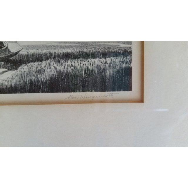 "Framed & Signed Print, ""Boats at Low Tide"" - Image 4 of 5"