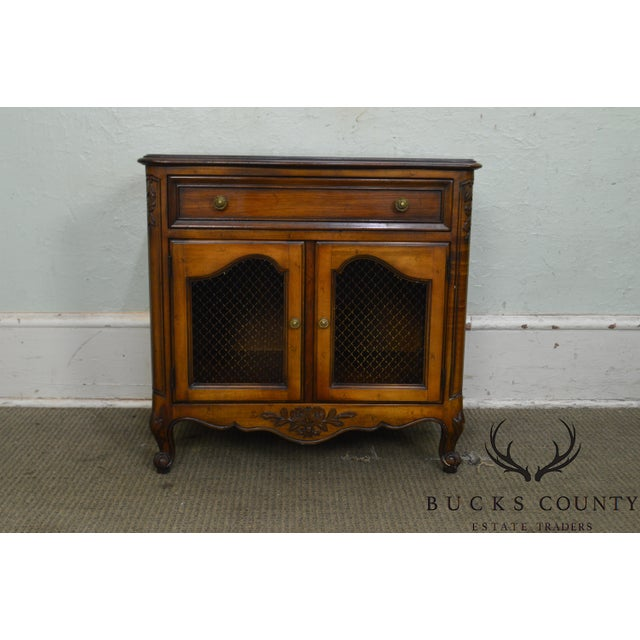 Kindel Beauclair French Louis XV Style Vintage Fruitwood Nightstand For Sale - Image 11 of 13