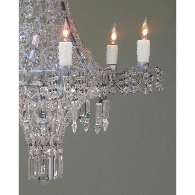 Early 20th Century Italian Neoclassical Crystal and Tole Chandelier For Sale - Image 4 of 8