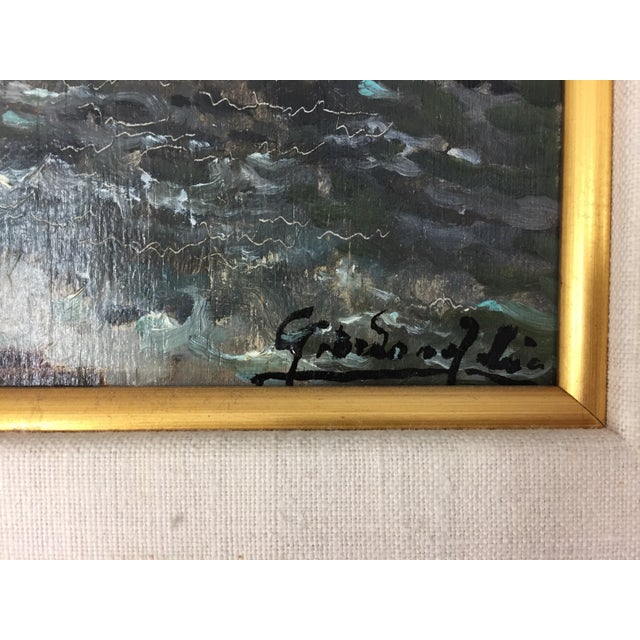 Framed & Signed Seascape Oil Painting - Image 6 of 10