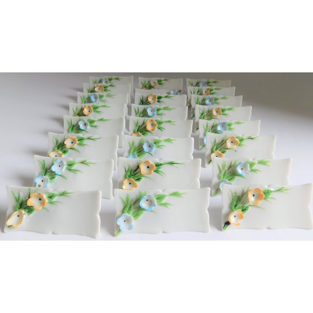White Porcelain Vintage Place Cards - Set of 24 For Sale In New York - Image 6 of 12