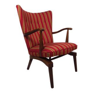 Sculpted Mid-Century Modern Walnut Rocking Armchair For Sale