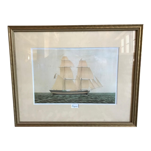 Eugen Boat at Sea Painting For Sale